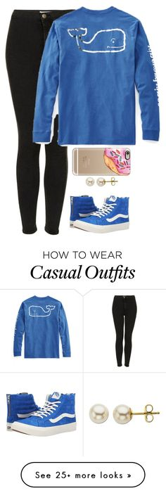 """""""Royally blue, and royally casual"""" by meljordrum on Polyvore featuring Vans, Topshop, Vineyard Vines, Casetify and Lord & Taylor"""