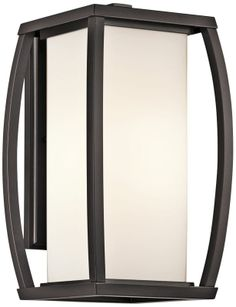 Kichler Bowen Opal Glass 9-Inch-W Outdoor Wall Light -