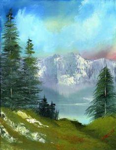 ... nature | Beautiful Nature Painting; Lake, Mountain, nature, painting