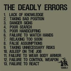 Not only for police- Civilians, learn these! Stay aware, stay alive!