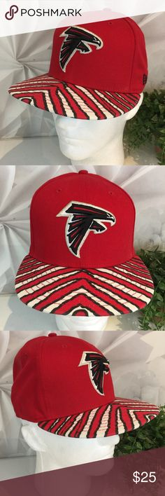 New Era Atlanta Falcons NFL Hat Black White Bill This listing is for a New  Era. Nascar HatsStriped ... 4b4f916b0e42