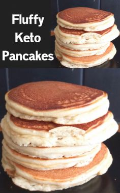 The Best Keto Pancakes recipe that has ever been made in our household! Made with just this keto pancake mix is so easy to whip together with almond flour. Sunday morning pancakes will become a normal here on out. Ketogenic Recipes, Low Carb Recipes, Ketogenic Diet, Bread Recipes, Cake Recipes, Low Carb Breakfast, Breakfast Recipes, Keto Fast Food Breakfast, Breakfast Gravy