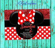 Minnie mouse birthday invitation wording for kids birthday red minnie mouse birthday invitation minnie mouse invitation invitation printable invitation pol filmwisefo