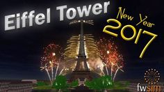 FWSim - New Year 2017 - Eiffel Tower, Paris [HD]