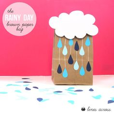 The Rainy Day Bag - Fill these brown paper bags with activities and surprises and let your kids open one and do what's inside on a rainy day. 10 amazing activity ideas included.