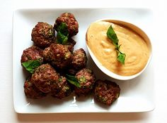 These juicy meatballs full of bright, Southeast Asian flavors would make a great cocktail snack for a party.