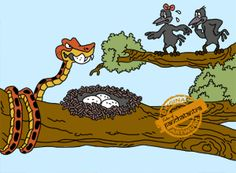 Cobra and Crows - Panchatantra Story Picture