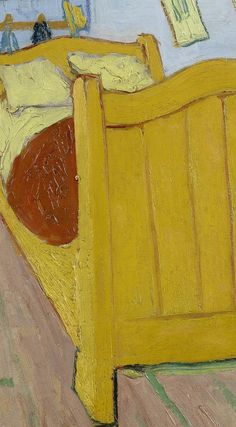 Detail of 'The Bedroom', October Vincent van Gogh - Credits (obliged to state): Van Gogh Museum, Amsterdam (Vincent van Gogh Foundation). Van Gogh Art, Van Gogh Museum, Van Gogh Paintings, Vincent Van Gogh, Colours, Throw Pillows, Drawings, Amsterdam, Artwork