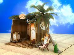 Galaxy Summer Beach Booth on Behance Exhibition Booth Design, Summer Beach, Behance, Exhibition Stand Design