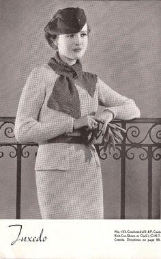 1935 Crocheted Dress Patterns PDF