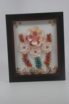 Unique Seashell Flower Art Framed  Unique Shell by ArleneTreasures, $10.00