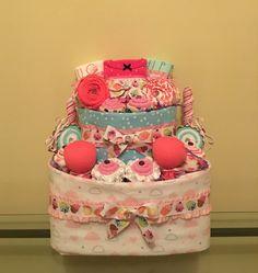 Sweet Treats and Cupcakes Baby Girl Diaper Cake