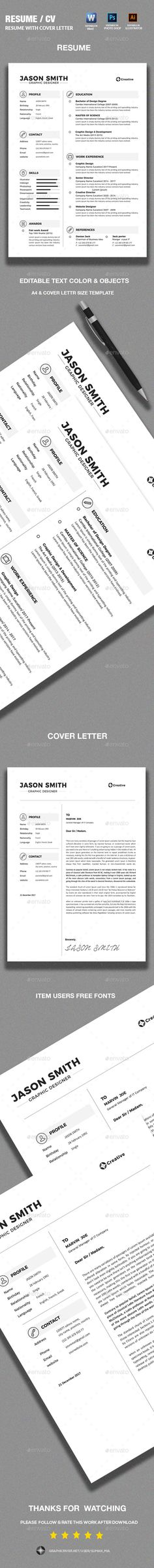 Resume Resume cv, Cv template and Graphic portfolio - ba resume