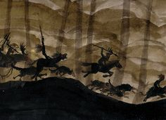 The Wild Hunt. Yule is also regarded as the season of The Wild Hunt, a supernatural procession of hounds, horses and huntsmen. Hunt leaders vary, from horned gods to folk heroes, depending on country and culture. In the United Kingdom hunt leaders include Odin's equivalent Woden, Gaelic Fairy Folk, Herne The Hunter and King Arthur.