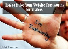 How to Make Your #Website Trustworthy for #Visitors