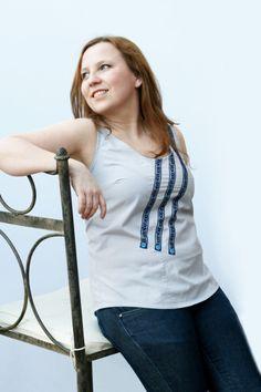 Womens sleeveless top, cotton tank top, recycled mens shirt. £21.00, via Etsy.