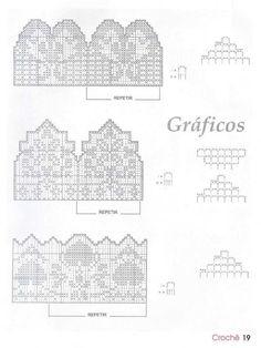 "crochet - filet edgings - barrados / bicos filet - Raissa Tavares - ""Picasa"" žiniatinklio albumai"