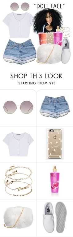 """Lovely Girl"" by melaninprincess-16 ❤ liked on Polyvore featuring Linda Farrow, Casetify, ASOS, Victoria's Secret and Vans"