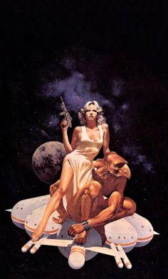 sciencefictiongallery:David Bergen - Babel-17, 1978. Dana Balfour modelling