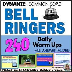 Bell ringers 240 daily warm ups with answer slides common core bell ringers 240 daily warm ups with answer slides common core fandeluxe Images