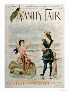 Partridge, Sir John Bernard Women in Surf- 'Vanity Fair'- Sept. British Magazines, Old Magazines, Vintage Magazines, Vintage Postcards, Vanity Fair Magazine, Magazine Art, Magazine Covers, Vintage Advertisements, Vintage Ads
