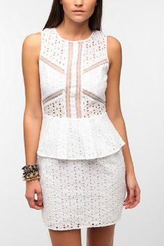 peplum dress urban outfitters