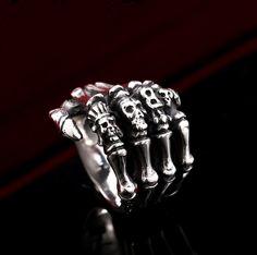Boney Hand Biker Ring (sizes 7-13)
