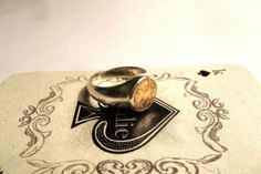 Kallie Coin Series - Sterling Silver Signet Ring by Kallie