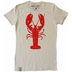 Rock Lobster: Women'S Organic Fine Jersey Short Sleeve T-Shirt In Unbleached Natural