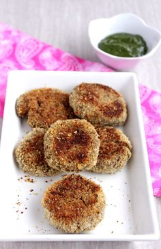 Baked Quinoa Vegetable Cutlet - Appetizers, Baking, Green Peas / Matar, Indian, Kids Friendly, Potatoes, Quinoa, Savory Bakes, Snacks, Street Food, Vegetables, Whole Grains We make many different recipes with many different ingredients and almost have no second thoughts. But when someone sends you or asks you to make something Baked Quinoa Vegetable Cutlet