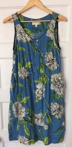 Anthropologie Moulinette Soeurs Dress 10 Calliope Sleeveless Silk Floral Green   Clothing, Shoes & Accessories, Women's Clothing, Dresses   eBay!