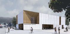 Alejandro Aravena, A rendering of the firm's planned Constitución Municipal Theatre, in southern Chile.