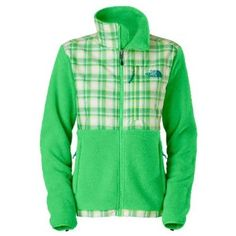 Women's The North Face Denali Jacket Mojito Green/Plaid Print Size Small The North Face. $179.00