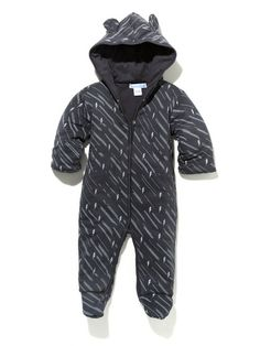 Double Knit Hooded Romper by Feather Baby at Gilt
