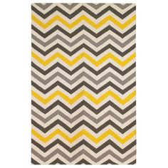 This yellow and gray chevron rug will be perfect for the new living room. This yellow and gray chevron rug will be perfect for the new living room. Modern Kids Rugs, Contemporary Area Rugs, Modern Area Rugs, Yellow Chevron Rugs, Yellow Rug, Gray Chevron, Gray Yellow, Yellow Accents, Cool Rugs
