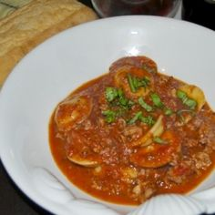 Ravioli and Homemade Bolognese by jessfuel