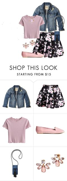 """""""Early Morning Spring Rain"""" by jakenpink ❤ liked on Polyvore featuring Hollister Co., WithChic, Rebecca Minkoff, Marchesa and Miadora"""