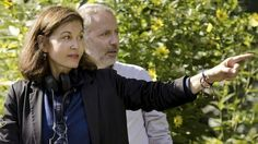 On set ... director Anne Fontaine with Fabrice Luchini.