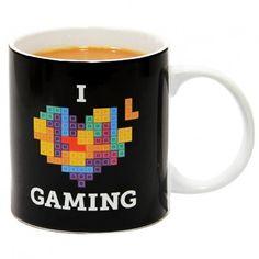 Tetris I Love Gaming Mug on Yellow Octopus #tetris #ilovegaming #mug #kriskringle