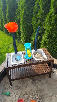 Wasser-Sand Spieltisch aus IKEA Molger Bank