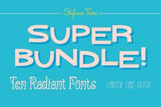 10 Retro Radiant Handmade Fonts from Skyhaven - only 17! - MightyDeals