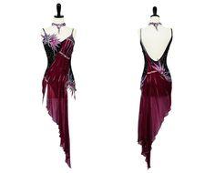 latin and smooth ballroom dresses | Crystal Abstraction | Rhythm & Latin Dresses | Encore Ballroom Couture