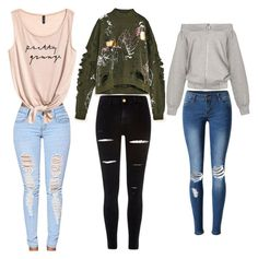 """""""love"""" by madystultz on Polyvore featuring WithChic and River Island"""