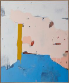 'Sky Pink' Acrylic on canvas, by Sarah Kelk, framed 76.2cm x 91.4cm $2200 #australianartist