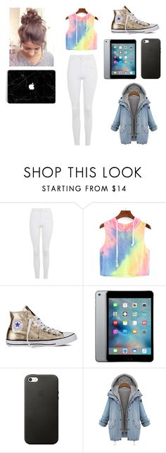"""Hanging with shawn 2"" by amahlswede ❤ liked on Polyvore featuring Topshop and Converse"
