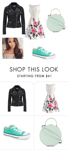 """""""Floral style"""" by tabbiecat1213 ❤ liked on Polyvore featuring Chicwish, Converse and Tammy & Benjamin"""
