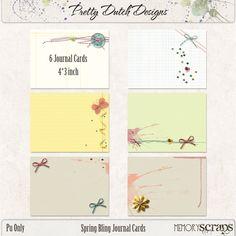 Spring Bling Journal Cards | Pretty Dutch Designs