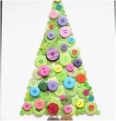 Buton Christmas Tree