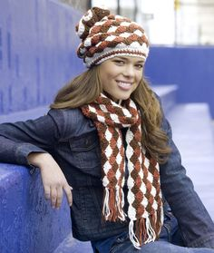 Shell Stitch Hat and Scarf Crochet Pattern | Red Heart                                                                                                                                                                                 More
