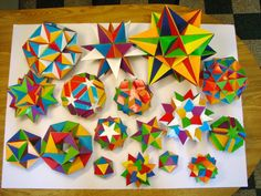 Great collection of stellar origami: 10 Unusual Ways to Explore Math Math Sites, Math Resources, Math Activities, Love Math, Fun Math, Maths, Math College, Art Origami, Math Projects